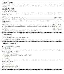 Undergraduate Sample Resume by Undergraduate Resume Template