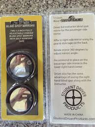 Blind Corner Mirror Blind Spot Mirrors Item 142 U2013 Student Driver Products