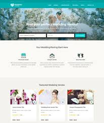 wedding vendor websites 70 best wedding website templates free premium freshdesignweb