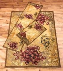 Vineyard Kitchen Rugs Area Rug Grapes Grapevine Rustic Tuscan Country Vineyard Home
