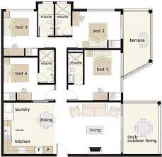 4 bedroom house blueprints 34 best floor plans images on home floor plans house