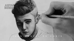 drawing justin bieber by juan andres youtube
