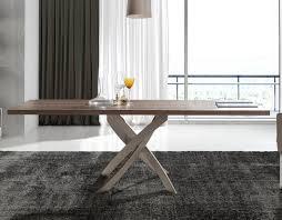 Contemporary Dining Table Base Cerda Torrox Contemporary Walnut Top Dining Table Base In