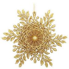 gifts or ornaments snowflake mistletoe gold ornam
