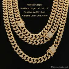 copper colored chain necklace images 2018 real copper jewelry casting latch clasp diamond miami cuban jpg