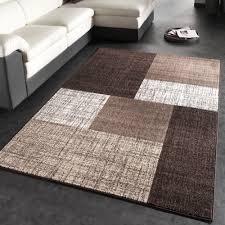 teppiche design teppich kariert braun creme meliert design teppiche