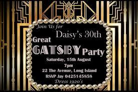 Gatsby Invitations Great Gatsby Inspired Birthday Bridal Shower Bachelorette