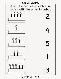 kindergarten worksheets printable worksheets count and match