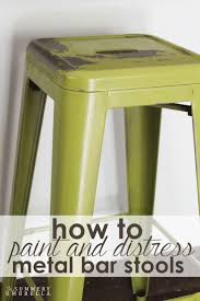 top 25 best metal bar stools ideas on pinterest bar stools how to paint and distress metal bar stools like a pro