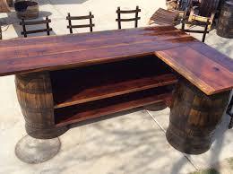 whiskey barrel bar table whiskey barrel bar stools for sale lustwithalaugh design great
