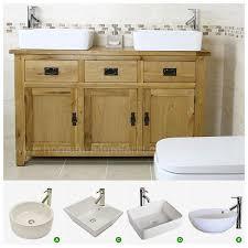 Valencia Bathroom Furniture 50 Traditional Solid Oak Vanity Unit Bathroom