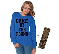 amazon com awkwardstyles women u0027s cake by the pound crewneck hip