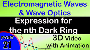 expression for the nth dark ring class 12 physics subject notes