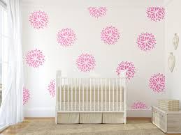 vinyl wall decal art sticker rain drop flower pattern pink zoom