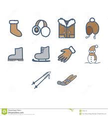 winter season icon set stock vector image 57600751