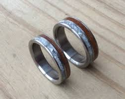 wood inlay wedding band wood inlay ring etsy
