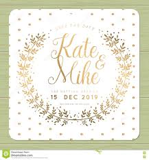Golden Wedding Invitation Cards Save The Date Wedding Invitation Card Template With Golden Flower