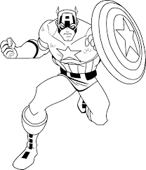 captain america coloring pages wecoloringpage