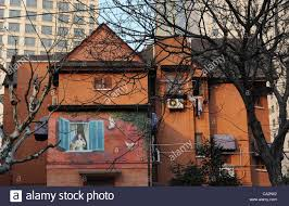 House Murals by Two Beautiful Murals Were Paint On Two Old Foreign Style House In