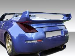 convertible nissan 350z 03 08 fits nissan 350z convertible vader 3 duraflex body kit wing