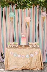 1st Birthday Party Decorations Homemade Yasmeen U0027s Ice Cream Themed 1st Birthday Party The Little