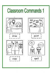 printable instructions classroom english worksheets classroom instructions flashcards