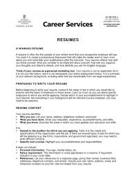 Form Of Resume For Job Examples Of Good Resumes For College Students 20 College Student