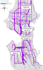 seattle map traffic seattle washington usa traffic flow map with zonal locations