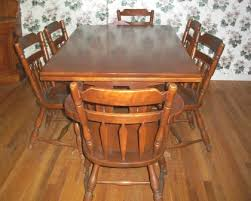 Maple Dining Room Sets I Have A Solid Rock Maple Antique Dining Room Set There Is