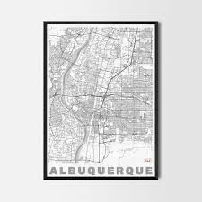 Albuquerque Map Albuquerque Gift Map Art Prints And Posters Home Decor Gifts