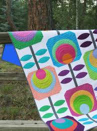 flower power quilt kit by swirly designs