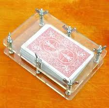crystal playing card press clamp protector bicycle deck flatten
