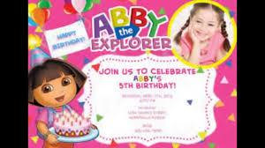 5th birthday party invitation birthday invitations youtube