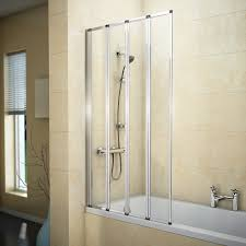 folding bath screen bath shower screens victorian plumbing haro folding bath screen 800mm wide 4 fold concertina medium image