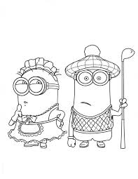 minion coloring pages coloring pages free printable color