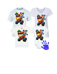 blaze monster machines birthday shirt 6 month onesie