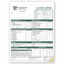 Landscaping Invoice Template by Landscape Maintenance Agreements Contracts 6523 Deluxe Com