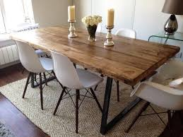 Eames Chair Dining Table Vintage Industrial Dining 6ft Farmhouse Table Bench 4 Eames