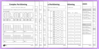 complex partitioning of 2 digit numbers differentiated activity
