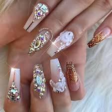 imagenes de uñas acrilicas con pedreria pin de shanon duvers en nails pinterest diseños de uñas uñas