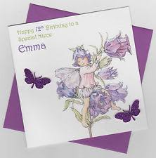 personalised handmade cute butterfly fairy birthday card daughter