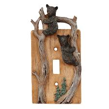 Rustic Light Switch Covers Bear Wildlife Moose Designs