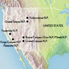 map us national parks tour the us national parks the west