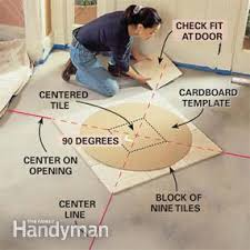 How To Install Center Jump How To Install Marble Tile Floor A Tumbled Stone Entryway