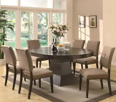 7 piece table and side chair set by coaster wolf and gardiner