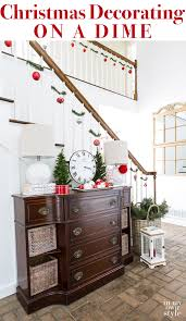 Staircase Decorating Ideas Staircase Decorating On A Dime In My Own Style