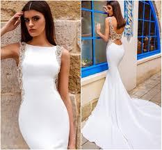 low waist wedding dress chic modern sheath wedding dress satin bateau neckline drop waist