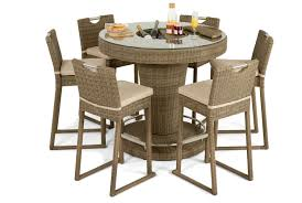 6 seater patio furniture set maze rattan winchester 6 seater round bar set and luxury inset
