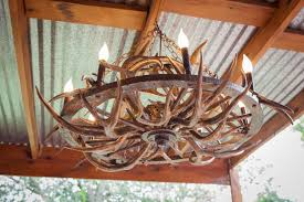 Handmade Chandelier by Hand Crafted Beautiful Unique Handmade Art Aged Gold Antler