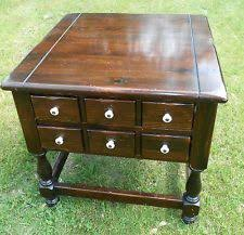 ethan allen end tables ethan allen country craftsman end table pine 19 8305 219 circa